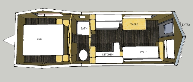 Musings of a theophyte tiny a documentary about one of for Tiny house trailer floor plans