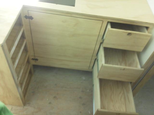 Tiny House Progress Shower Furnace Kitchen Cabinets