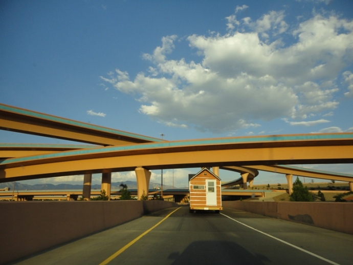 going under the freeways in Albuquerque...
