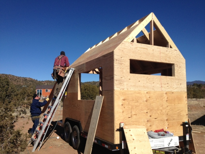 Beehive Mini Mart / Tiny House: wall sheathing