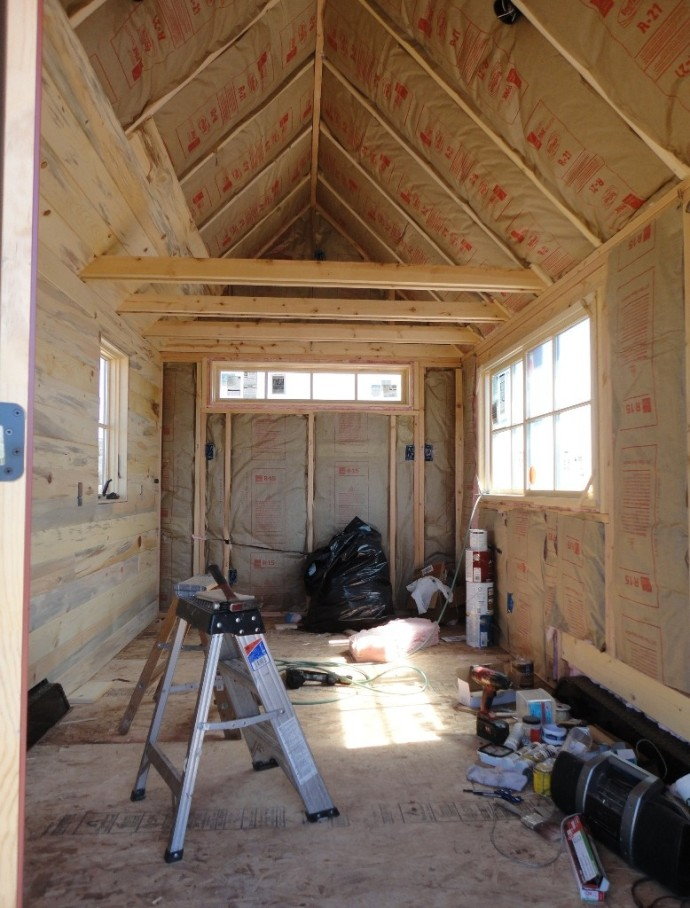 "We ended up using EcoTouch fiberglass insulation.  Zero voc's and almost the R-value of foam.  I went to a lecture on foam insulation and while it performs, it's hard to feel good about putting a chemical product into the world that will never go away...  Have you seen the film ""Garbage Island""??  It's sad.  Plastic never goes away, it just gets smaller and smaller."