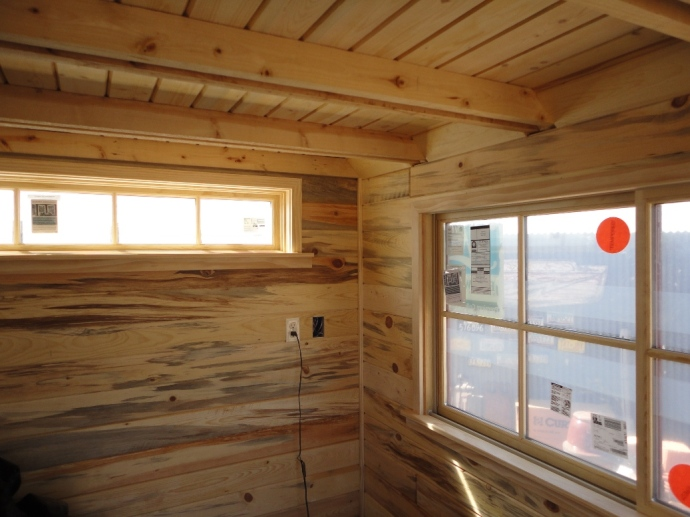 Clear pine window trim.