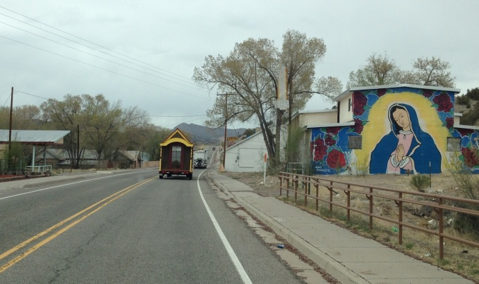 Driving the tiny house through New Mexico.