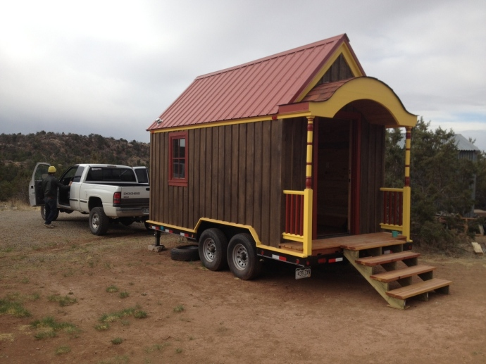 Clothesline Tiny Homes is moving our latest project - The Beehive Mobile Mini Mart Tiny House - up to Crestone, Colorado today!