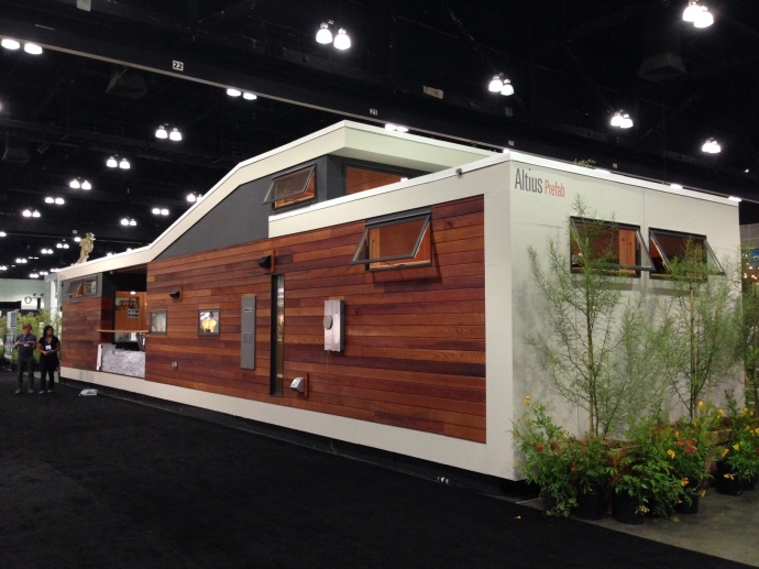 Altius Prefab's Solo 1 model at Dwell on Design 2014.
