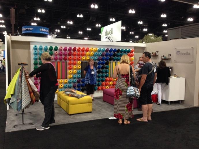 Dwell on Design 2014 - Sunbrella fabric's booth