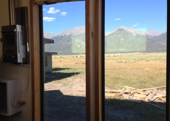 Really amazing views from inside the tiny house.
