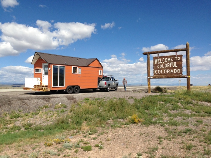 Welcome to colorful Colorado!  the tiny house was in great shape after being parked for 9 months in Santa Fe.
