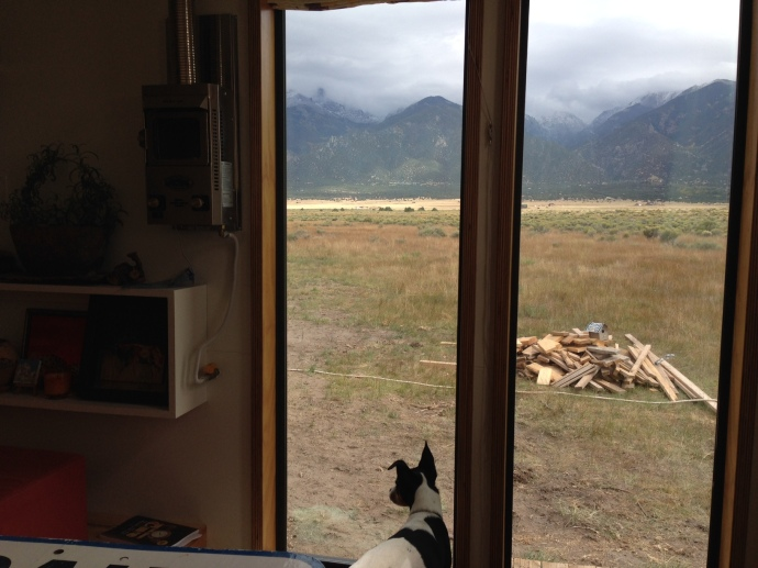 Views from the tiny house - I really need to do something about that scrap wood pile...