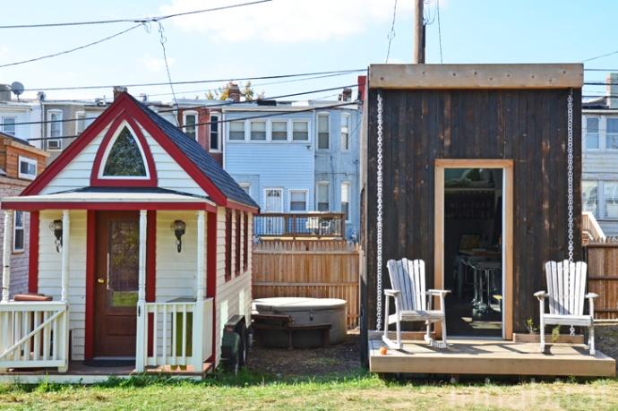 Jay Austin's Matchbox tiny house at Boneyard Studios in Washington DC.