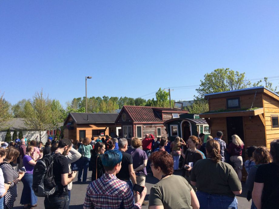 """The second annual Tiny House Conference drew over 400 attendees to Portland, OR April 18 & 19.  Colorado Springs will host the upcoming """"Tiny House Jamboree"""" August 7-9, 2015. Go to www.tinyhousejamboree.com for all the details.  photo courtesy of Off Grid Quest."""