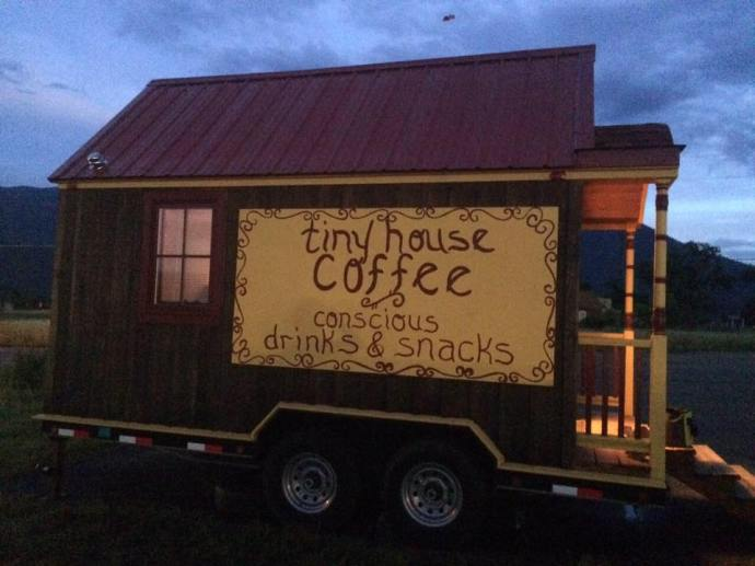 tinyhousecoffee-sign on side